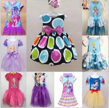 Freeshipping,2015 New!!top quality children dresses fashion girls Bow princess dress Summer baby sleeveless dress Retail BBS070