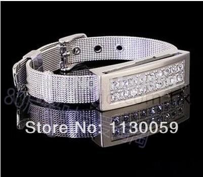 100% real capacity Wristband diamond 100% real capacity usb flash Drive Card Memory Stick Drive 32GB16GBpen driveS200(China (Mainland))