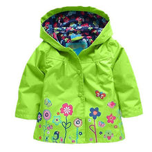2015 Hot New Cute Flowers High quality Kids Raincoat Hooded Waterproof  Windproof Raincoat For Children(China (Mainland))
