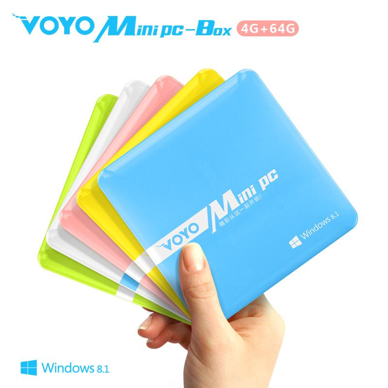 Original Voyo Mini PC-Box 4GB RAM 64GB ROM Windows 8 Intel Z3775 Mini Computer with USB HDMI ultrathin Mini PCs for Commercial(China (Mainland))