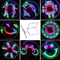 48 RGB LEDs 48 Modes Spoke Light Water Resistant Anti-shock Custom Programmable Bike Bicycle Wheel Light Color Changing