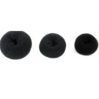 1Pc Black Fashion Sponge Hair Styling Bun Ring Donut Shaper Maker Tool  7cm AY300010