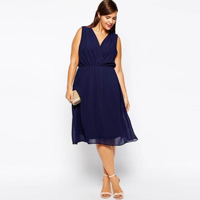 Горячая распродажа 2015 женская сексуальность бренда дизайн женщины шифоновое платье Большой размер платья 6xl 5 XL 4xl Xxxl оптовая продажа прямая поставка Roupas Femininas