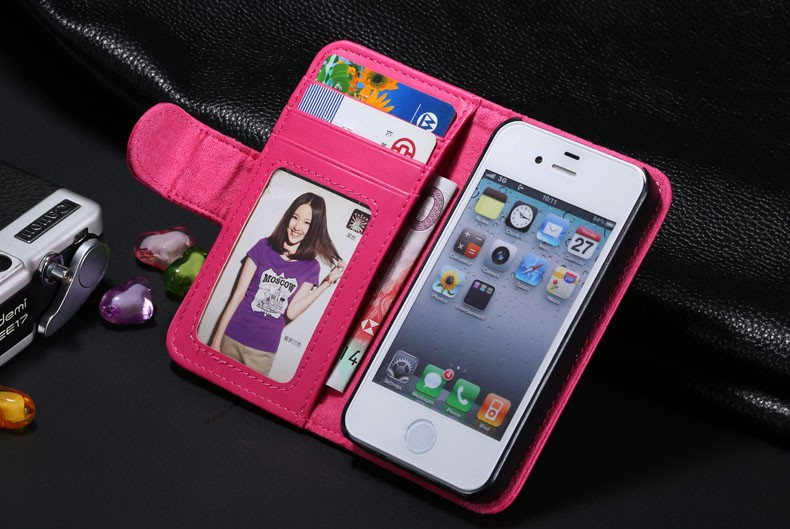 5S SE 4S Vintage Leather Case For Apple iPhone 5S SE 5G/4 4S Wallet Flip Capa Cover Fundas Women Card Slot Bag Shell Accessories
