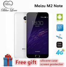 Original meizu m2 note 5.5 inch 1920*1080P 4G FDD LTE Mobile Phone MTK6753 Octa Core 2GB RAM 16GB ROM Android 5.0 13MP 3100mAh(China (Mainland))