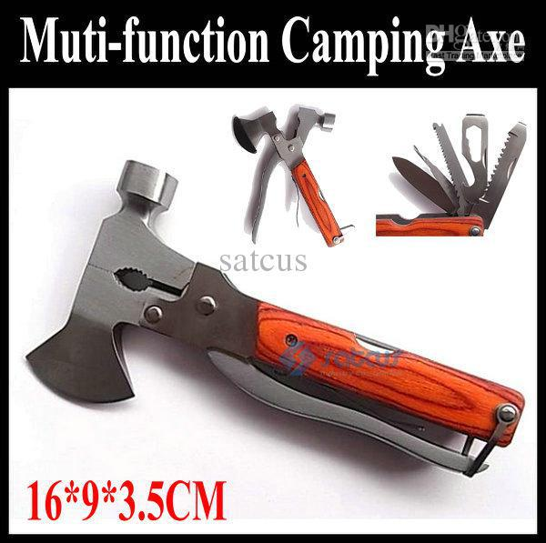 High quality Multi functional Camping Axe Hammer 11 in 1 Portable Folding