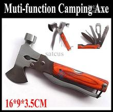 High-quality Multi-functional Folding Axe Hammer/ Camping Axe/ Hiking Saw/Knife/ Rescue knife/Military  Hunting Knife Tool