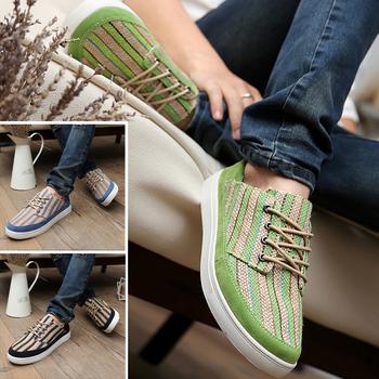 2013 male canvas shoes men skateboarding shoes fashion straw braid shoes low