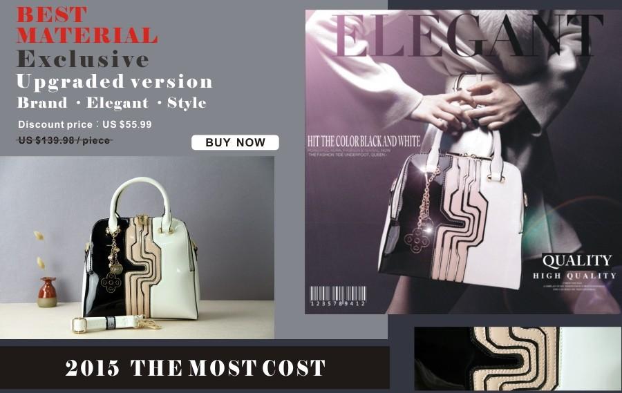 2015 Fashion Genuine Leather Bag Women Crocodile Handbag Damous Brand