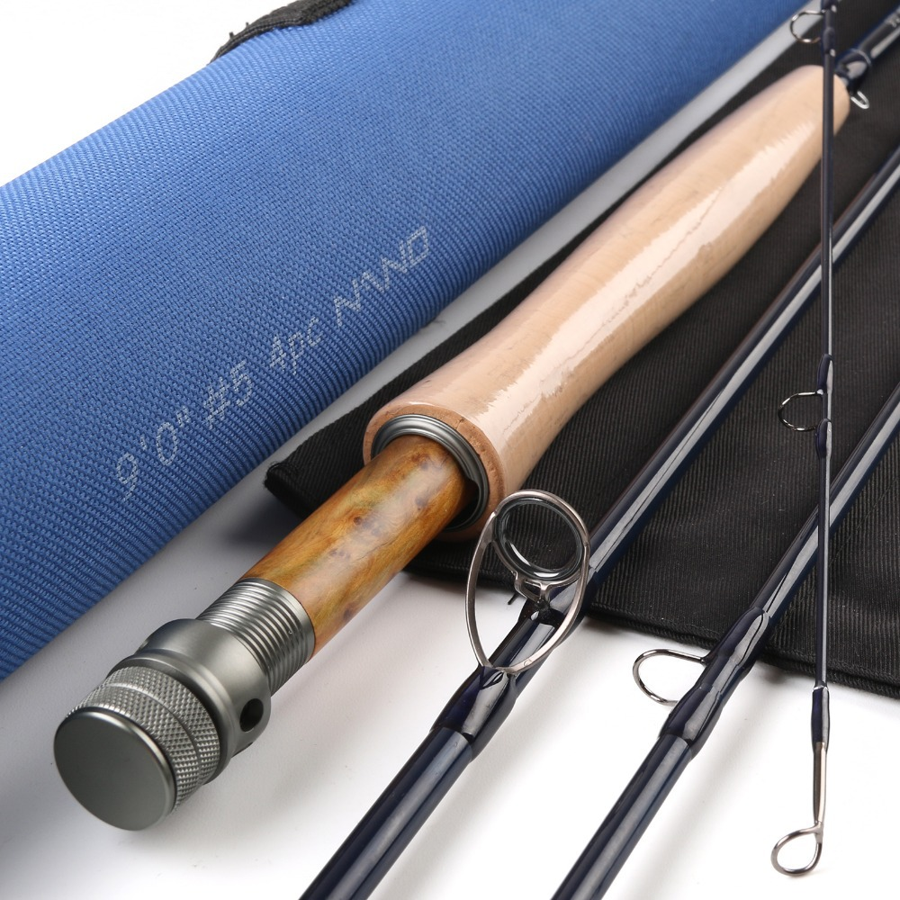 NANO A-Helix Core Carbon Fly Rod 9FT 5WT 4PCS With A Cordura Tube Fast Action Fly Fishing Rod(China (Mainland))