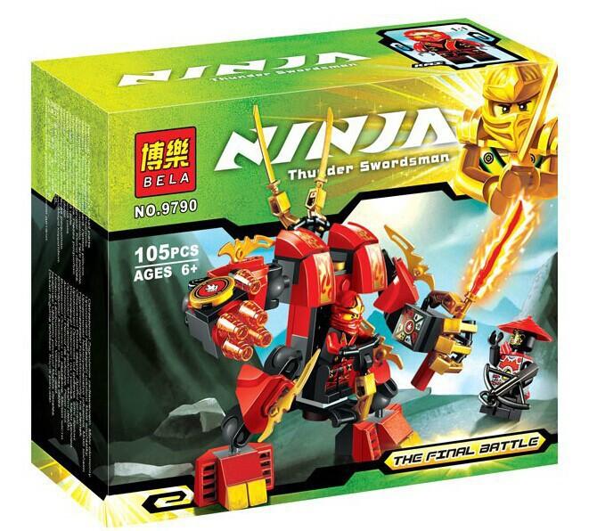 Factory sales Phantom Ninja Kais Fire Mech Building Blocks Christmas Toys Gift Ninja Minifigures Compatible with Lego<br><br>Aliexpress