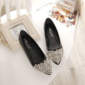 NEW Fashion 2016 Flats Shoes Women Ballet Princess Shoes For Casual Crystal Boat Shoes Rhinestone Women