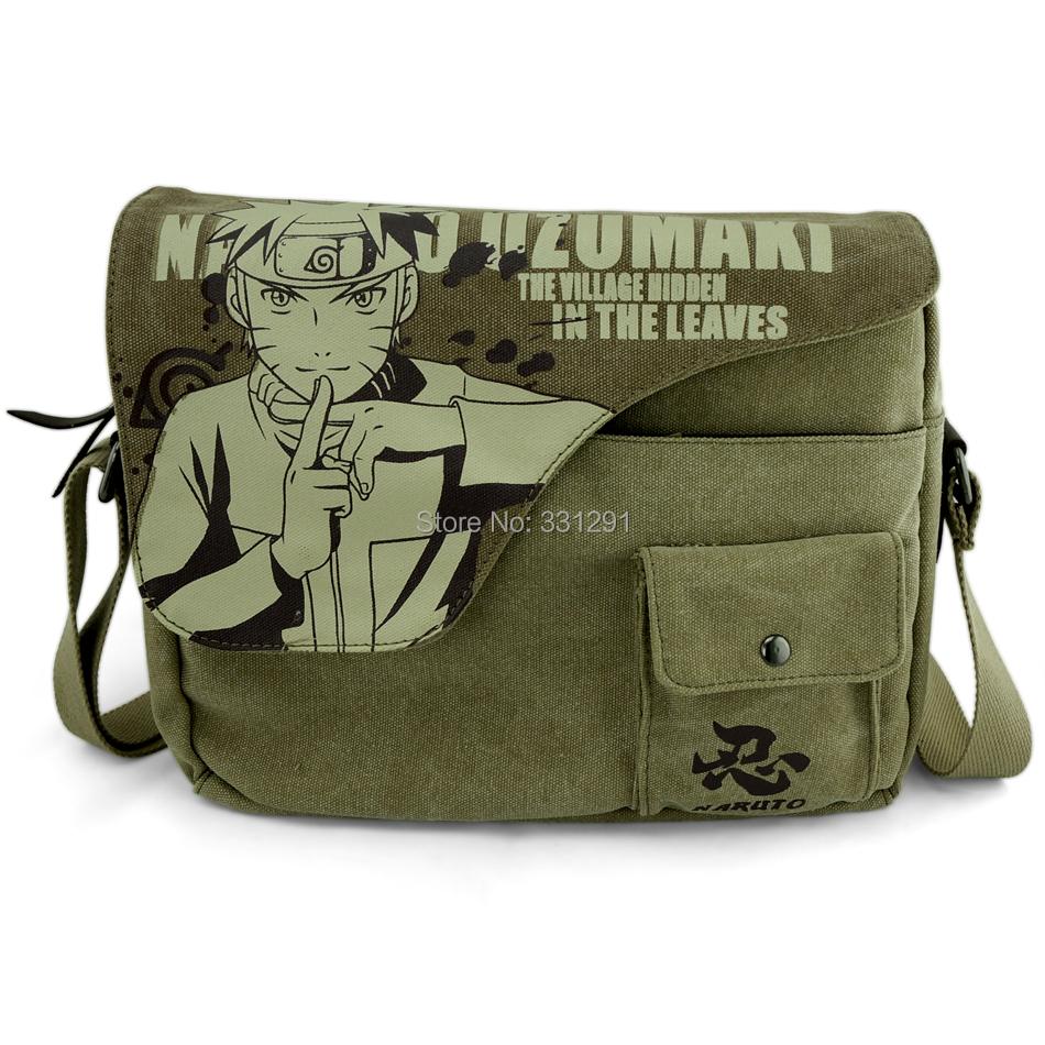 naruto bag Messenger Bags Uzumaki Naruto anime cartoon canvas single shoulder bag schoolbag bag(China (Mainland))