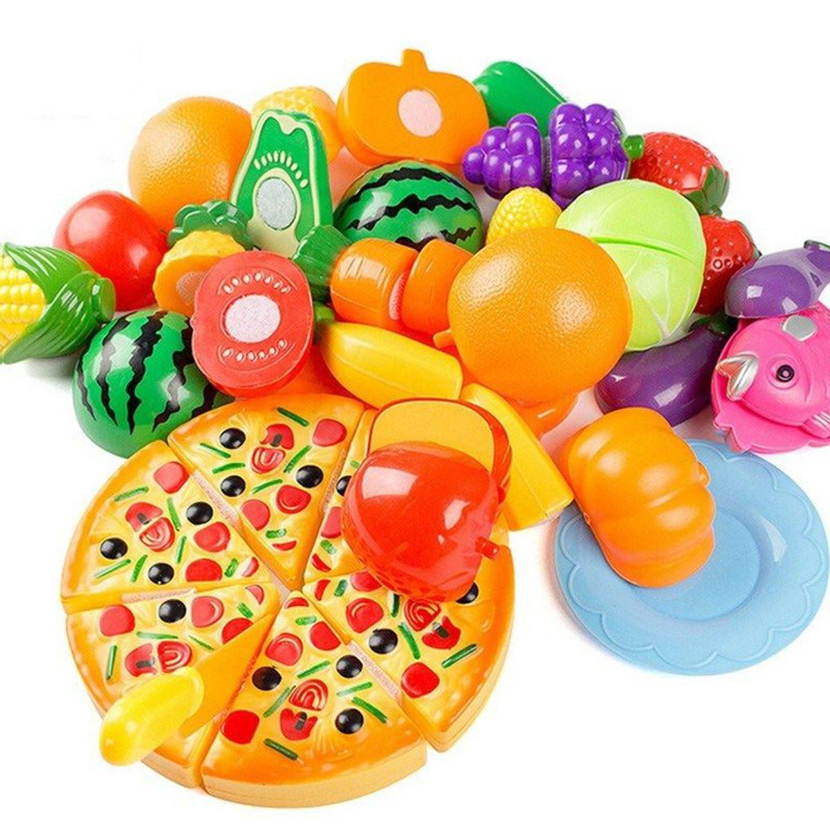 24Pcs/Set Kitchen Pretend Play Toys Vegetable Fruits Children Early Education Set Favor Supplies Kids Classic Toys Brinquedos(China (Mainland))