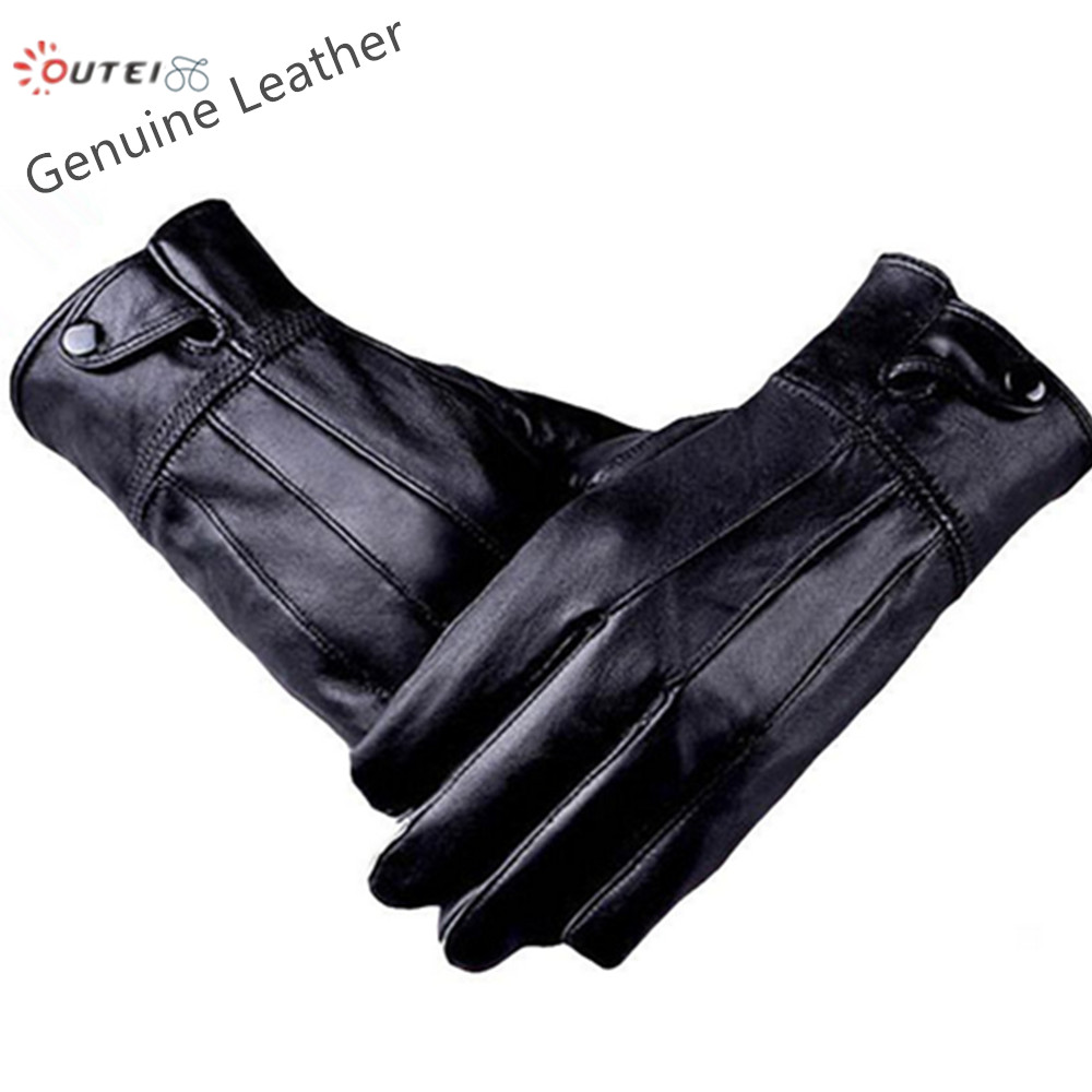 Mr Right Genuine Leather Gloves Full Finger Glove for Men Winter Sport luva Military Tactical guantes Army luvas de couro G32(China (Mainland))