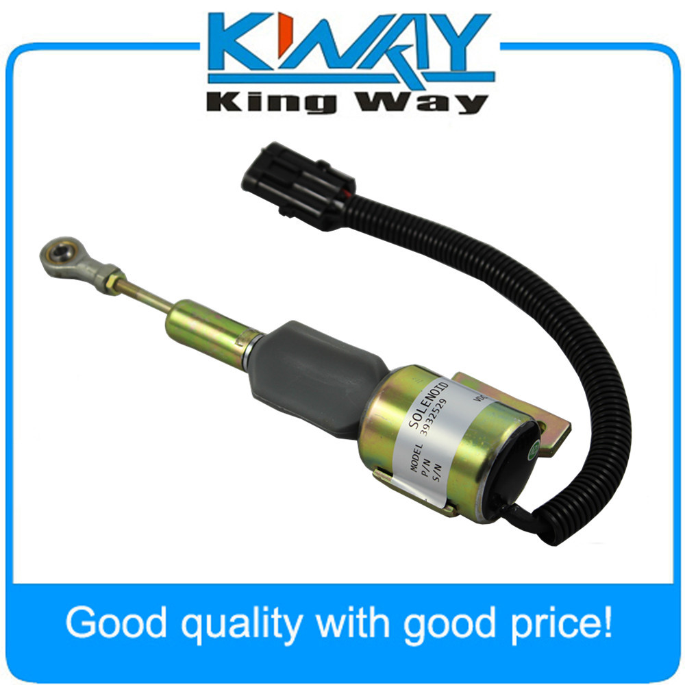 New Fuel Shut Off Solenoid for CUMMINS 3930658 3932529 3935431 SA-4756-12 J932529(China (Mainland))