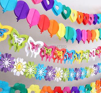 Красочные душа ребенка бумажные цветы событие ну вечеринку поставки искусственные цветы на день рождения ну вечеринку украшения для детей свадебные украшения