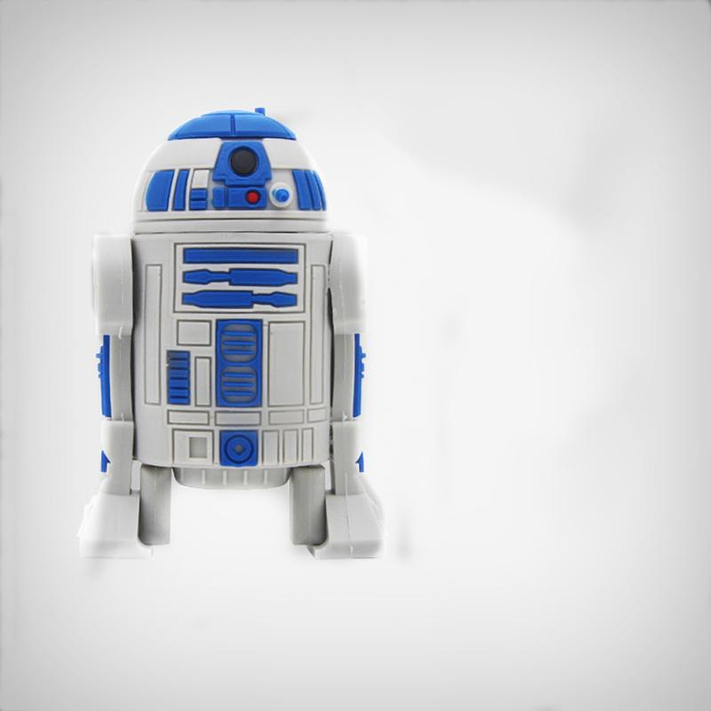 Star Wars series robot USB flash drive 16G 32g 64g 4G 8G pen drive, animation and creative U disk storage stick free shipping(China (Mainland))