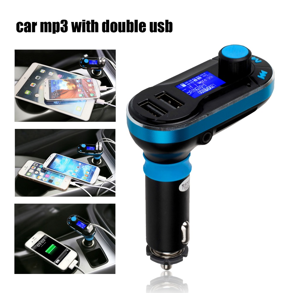 3-in-1 Universal Car Kit MP3 Player FM Transmitter Car modulator radio Dual Port SD Car Charger + Remote Control for iPhone(China (Mainland))