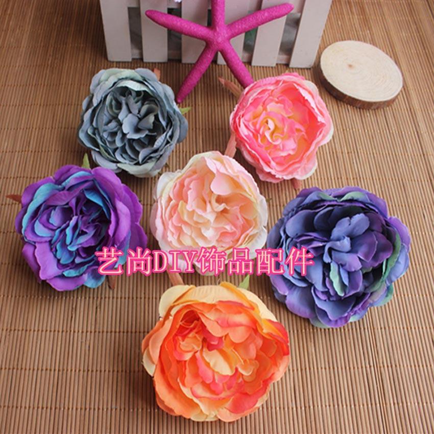 10PCS,8.5CM Large Fabric Artificial Silk Hibiscus Flowers Heads,DIY Material Headdresses,Prom Corsage Bracelet,Florist Supplies(China (Mainland))