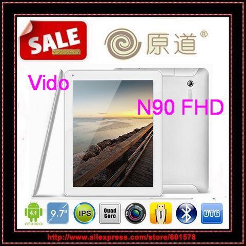 Original Window Yuandao Vido N90 Quadcore FHD N90FHD 9.7inch IPS Retina screen Android 4.1 2GB RAM 16GB/Jessie(Hong Kong)
