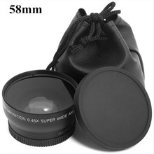 Buy 0.45x 58mm 58 Wide Angle Macro Wide-Angle Lens Bag 62mm Cap Canon EOS 350D 400D 450D 500D 1000D 550D 600D 1100D 1pcs for $20.01 in AliExpress store