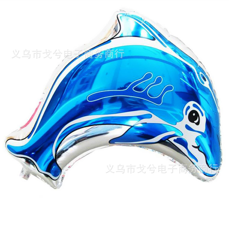 Free Shipping 1PC Hot Selling Pink/Blue Cartoon Animal Shaped Dolphin Balloons Wedding Decoration Foil Balloons For Globos Party(China (Mainland))