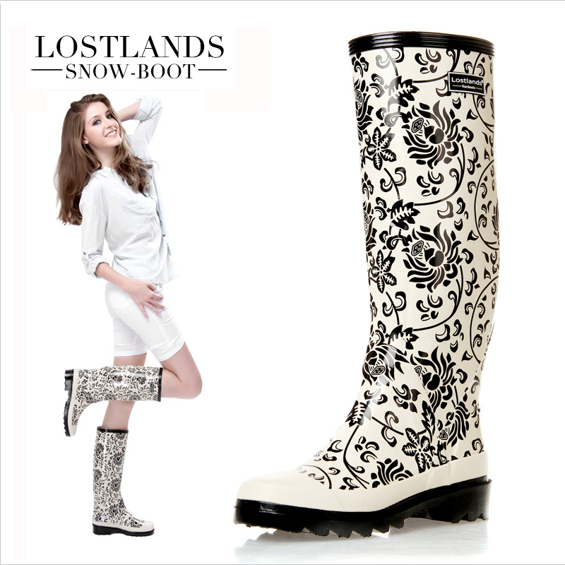 Ladies Rubber Rain Boots - Cr Boot