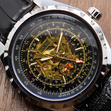 Photochromic Glass Silver Skeleton Dial Stainless Steel Bracelet Band Automatic Winding Mechanical Wrist Men's Watch(China (Mainland))