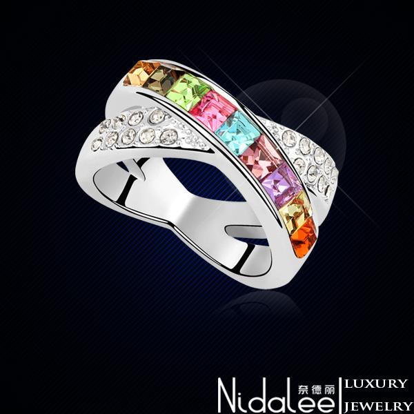 Кольцо Nidalee Jewelry Swarovski 18K CR-090 кольцо zhouyang jewelry r239 18k zyr239