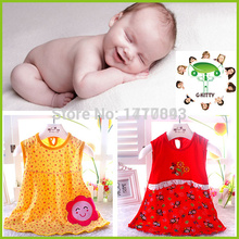 Newborn baby girl dresses new 2016 casual cartoon dress vestido infantil girls kids clothing brand girl clothes baby dress(China (Mainland))