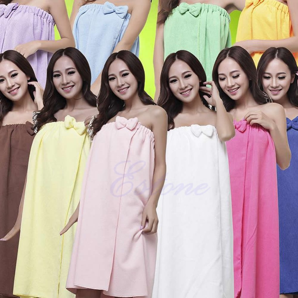 A25 Women Absorbent Microfiber Fleece Shower Spa Body Wrap Bath Towel 145x75cm(China (Mainland))