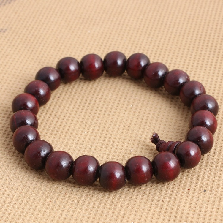 10mm sandalwood rosary wooden bead bracelet handmade men's wood beads bracelet men bangle bracelet jewelry with perfume(China (Mainland))
