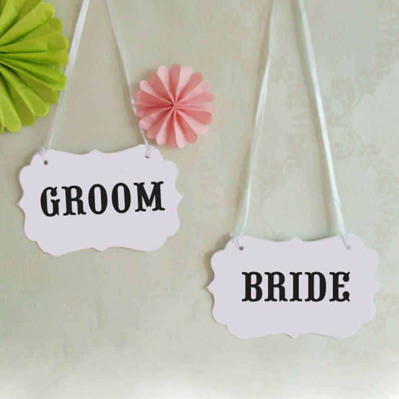 Paper Photo Booth Props Chair Ribbons Wedding Party Favor Decor Bridal Groom MR MRS(China (Mainland))