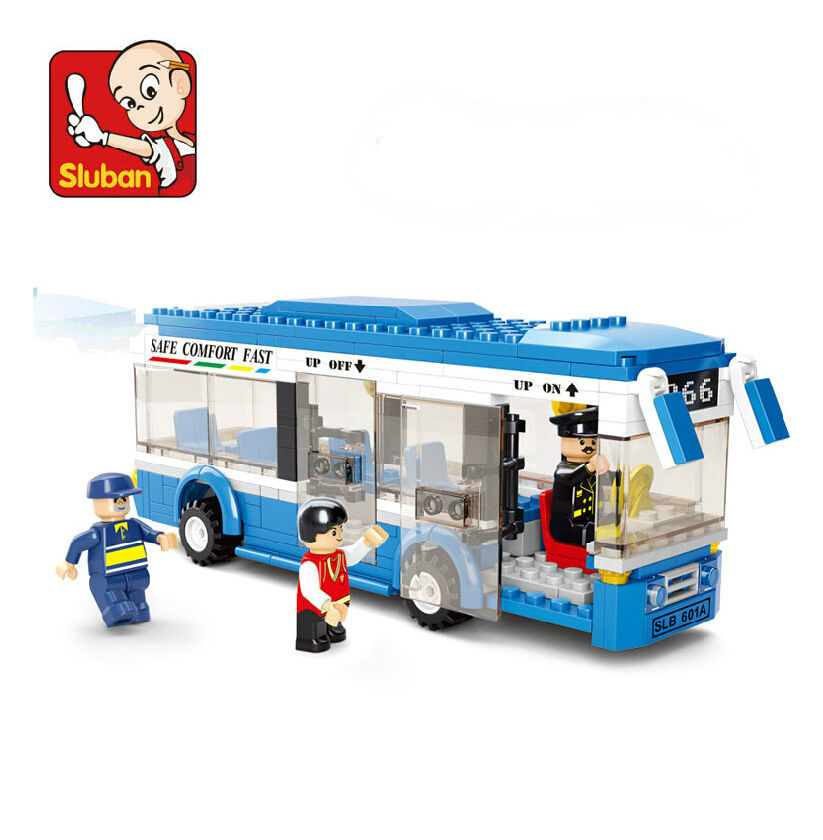Free shipping c Plastic Building Blocks sets 235pcs City bus DIY Enlighten bricks toys Compatible with lego0 educational toys(China (Mainland))