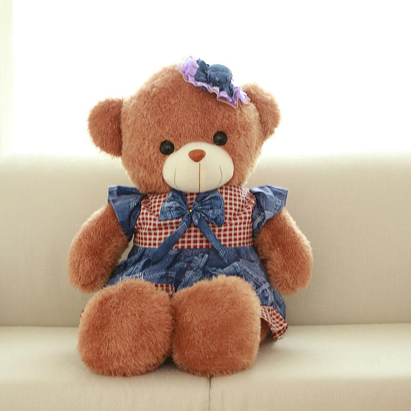 60cm Cute lovely Teddy bear Stuffed Plush Animal Toys Cartoon Gift for Valentine Day Lover Gift Rilakkuma Pillow(China (Mainland))