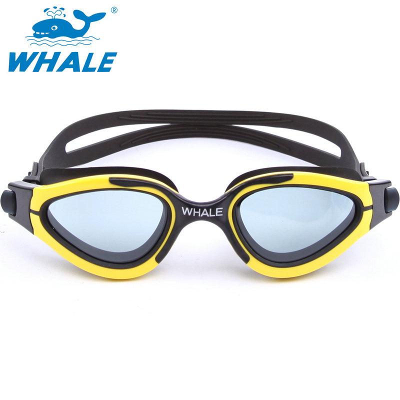 Whale brand Adjustable Unisex Adult Non Fogging Anti-UV Soft Silicone Swimming Goggles Swim Glasses eyewear 6200(China (Mainland))