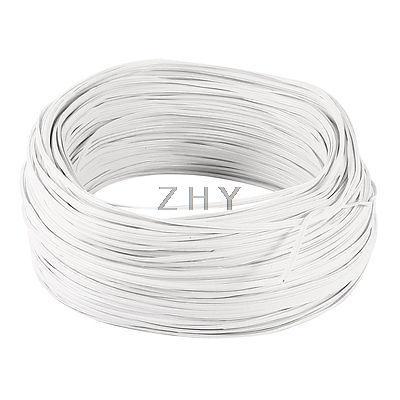 White PVC Coated Electro Galvanized 0.55mm Diameter Iron Wire 100M