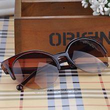 Vintage Semi Rimless Half Frame Women Sunglasses Inspired Round Circle Cat Eye Sun Glasses oculos de