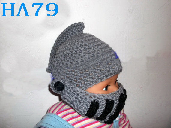 Free shipping, New Cute Cartoon Roman soldiers helmet Style Baby Children Crochet Knit Earflap Cap Warm Ear Hat 40pcs<br><br>Aliexpress