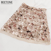 on Sequined Skirt
