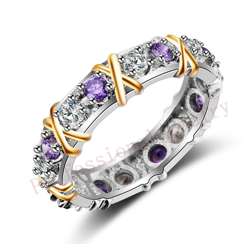 2016 New Brand Jewelry Hot 925 Sterling silver AAA CZ Simulated stones Wedding Engagement Free Women gold Ring gift Size 5-11(China (Mainland))