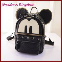 2015 New Korean fashion hot college girls Mickey backpack high quality fashion backpack SP013(China (Mainland))