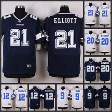 HOT Elite men Dallas Cowboys 21 Ezekiel Elliott 20 Darren McFadden 12 Roger Staubach 9 Tony Romo 8 Troy Aikman D-4(China (Mainland))