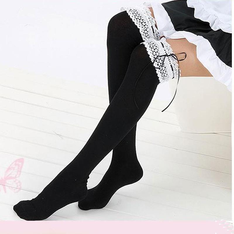 Otenki Ayano [Kiri] Women-Fashion-Over-Knee-Socks-Girl-Sexy-Lace-Bow-Kawaii-Sexy-Warm-font-b-Thigh-b