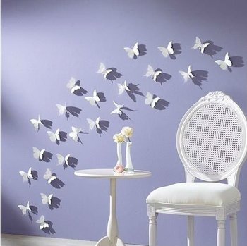 10 pcs DIY 3D Wall Sticker Butterflies Home Decor Room Decorations Decals Multi Colors Size 5.8cm Free Shipping