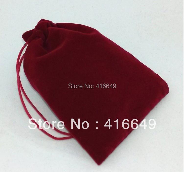Wholesale 1000Pcs 5.8*7cm Dark Red Velvet Bag/Jewelry Bag/Velvet pouch,Christmas/Wedding Gift Bag Free Shipping<br><br>Aliexpress