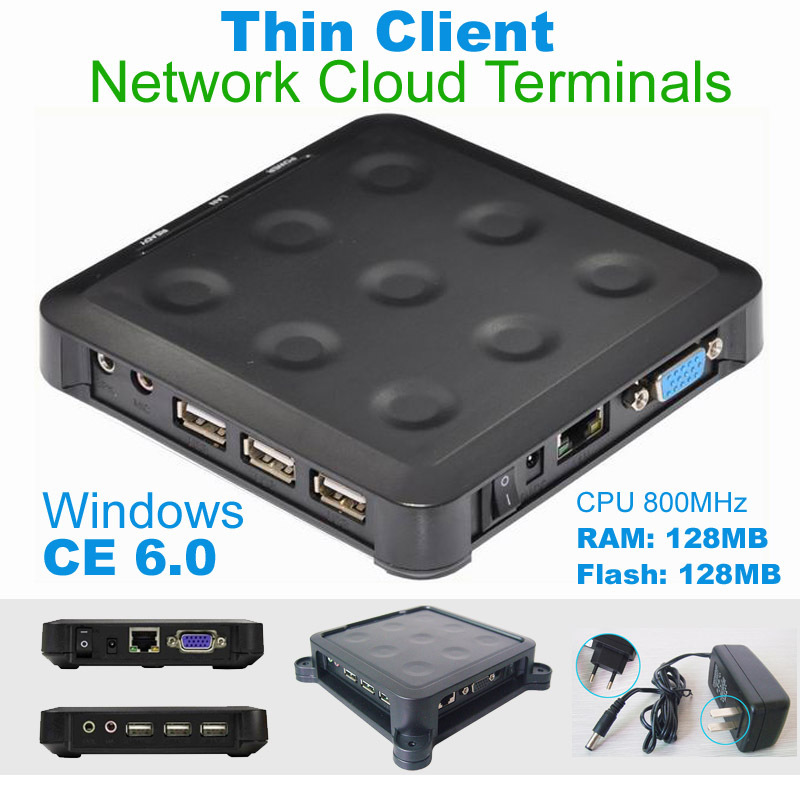N380 (TS660) Cloud Computing Terminal WIN.CE 6.0 Black Windows And linux Server Support One Can up To More Users(China (Mainland))