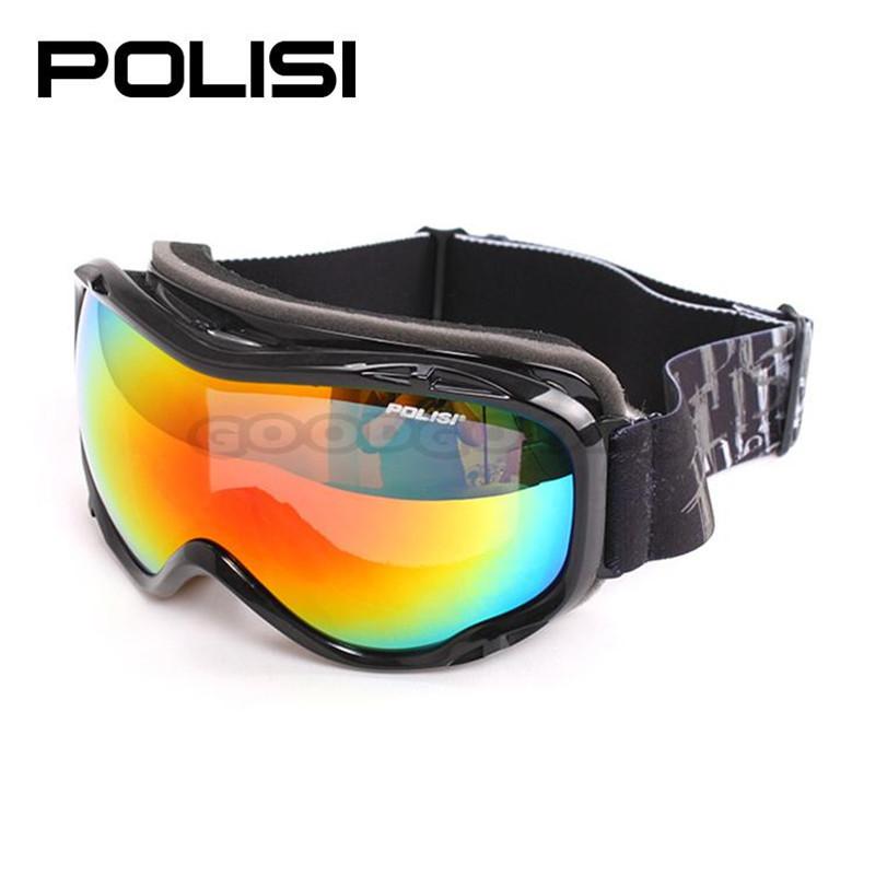 2015 new  2015 POLISI  P901-BA Polarized Ski Snowboard Skate Goggles Outdoor Motorcycle Skiing Anti-Fog Goggle Glasses Eyewear