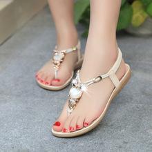 Women sandals 2015 hot comfort Rhinestone sandals women Summer shoes fashion high quality flat sandals women shoes